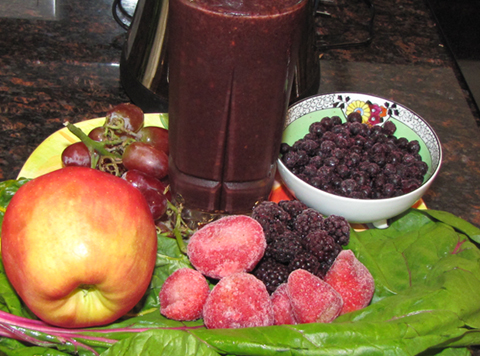 organic berry swiss chard smoothie